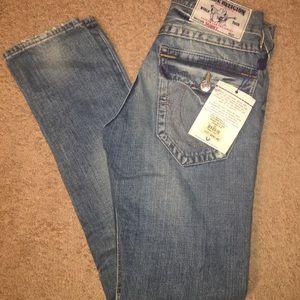 True Religion Mens Skinny Jeans Size 28 Blue NWT